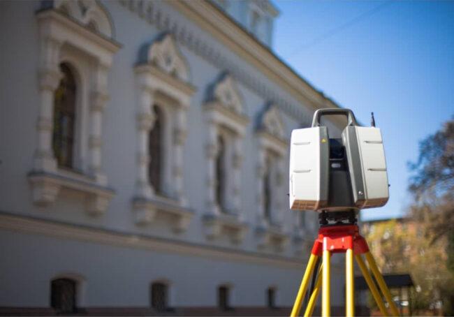 Наземное лазерное сканирование снаружи ОКН