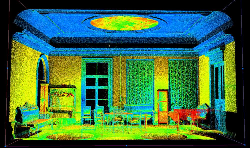 Облако точек - Красная гостиная в Петербургской филармонии 02