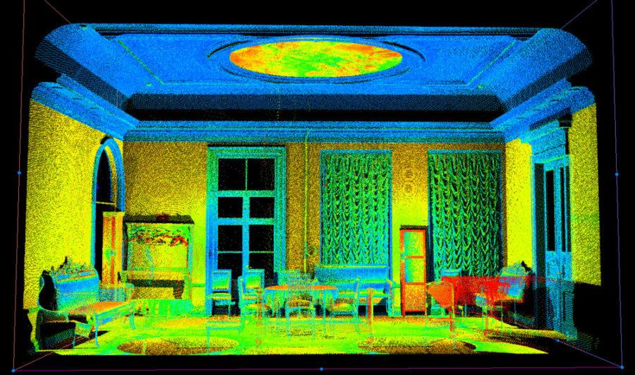 Пример облако точек - Красная гостиная Петербургской филармонии