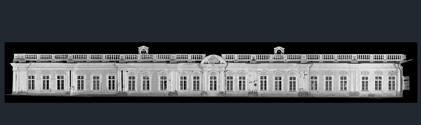 Облако точек - фасады Екатерининского дворца в Пушкине