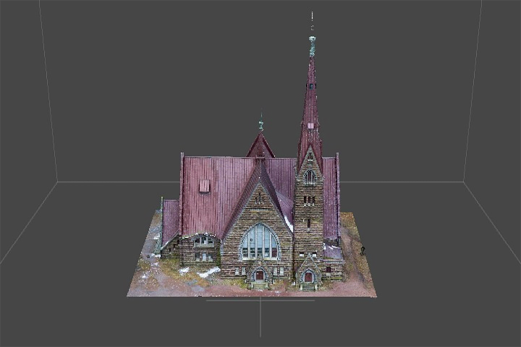 Пример 3D модели церкви