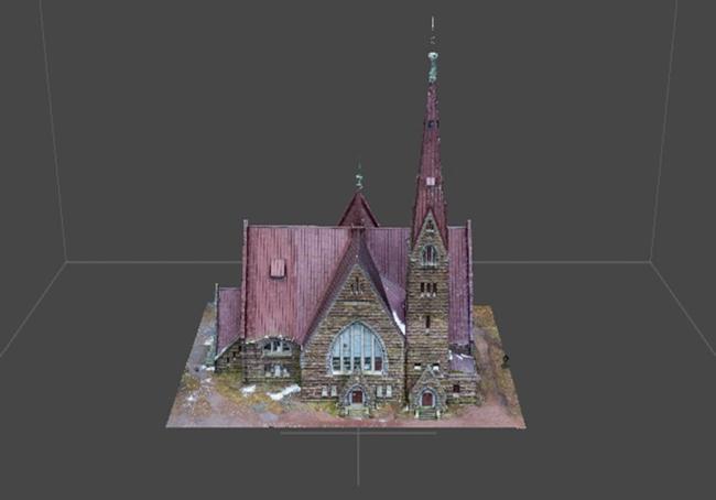 Пример 3D модели здания