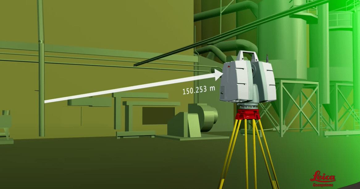 Первый этап лазерного сканирования