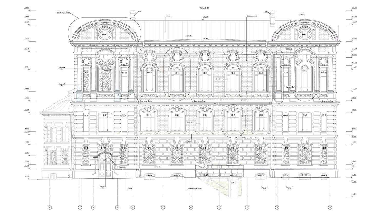 Чертеж библиотеки Александро-Невской лавры 2