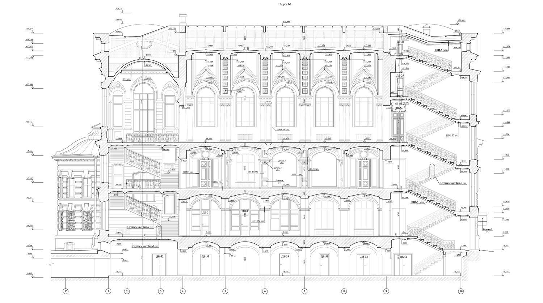Чертеж библиотеки Александро-Невской лавры