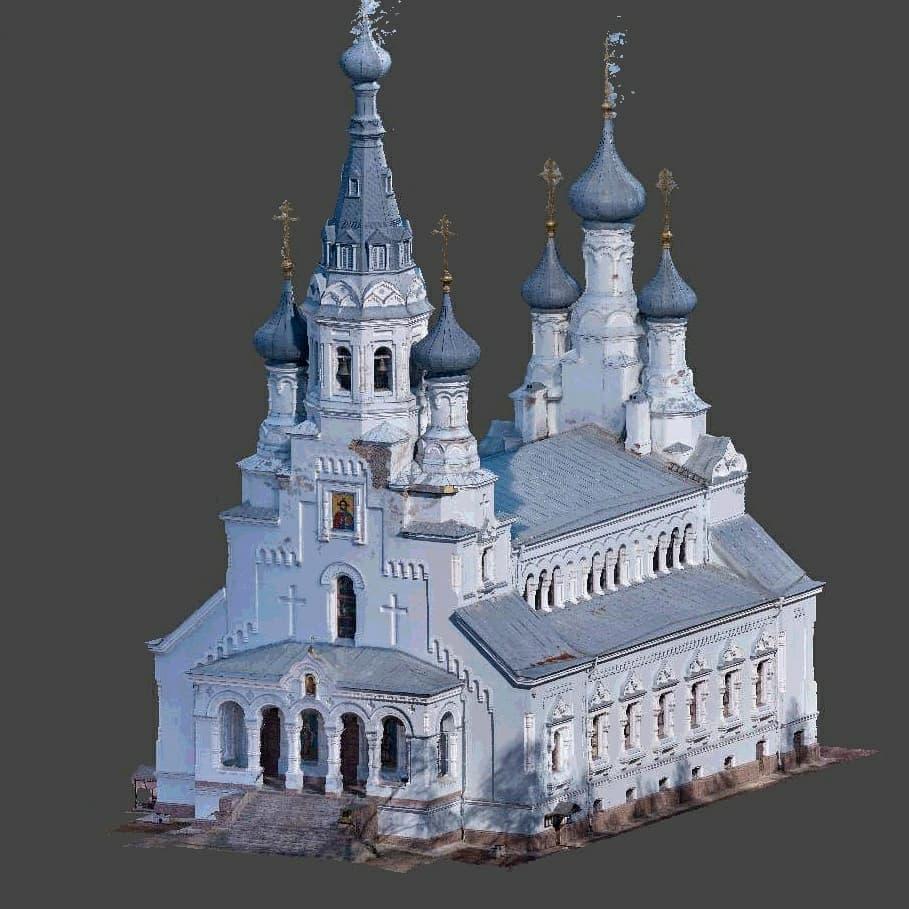 Пример 3D модели Владимирского собора
