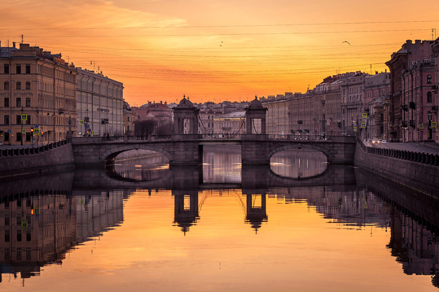 Фотография - Мост на реке Фонтанка в Санкт-Петербурге